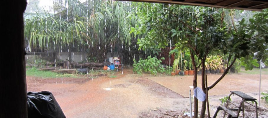 It is raining