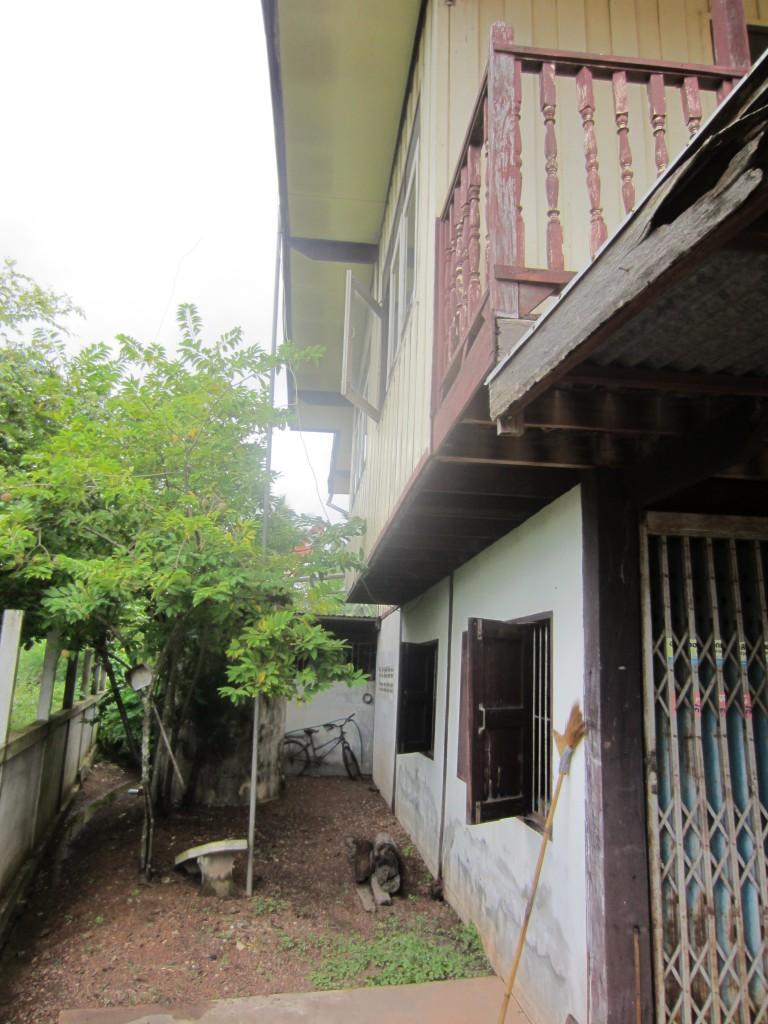Left side of old house