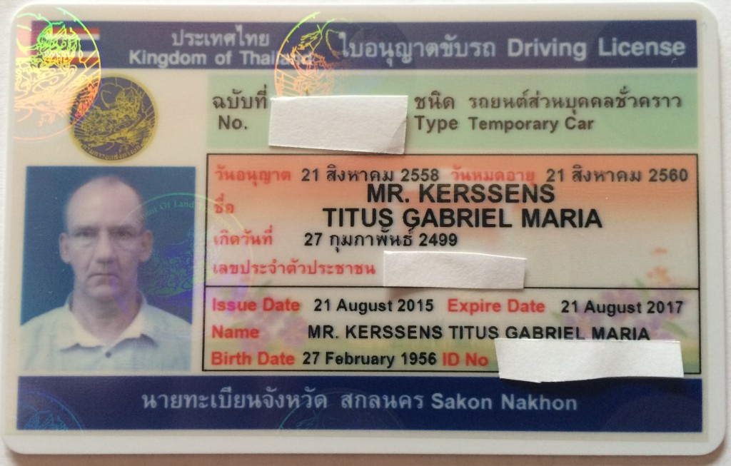 The 2 year Thai Driving License