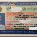 The 2 year Thai Driving License