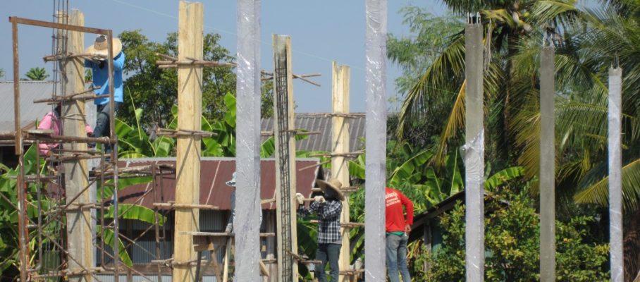 Finishing concrete columns