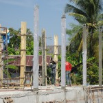 Finishing concrete columns