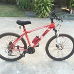 The red Team bike