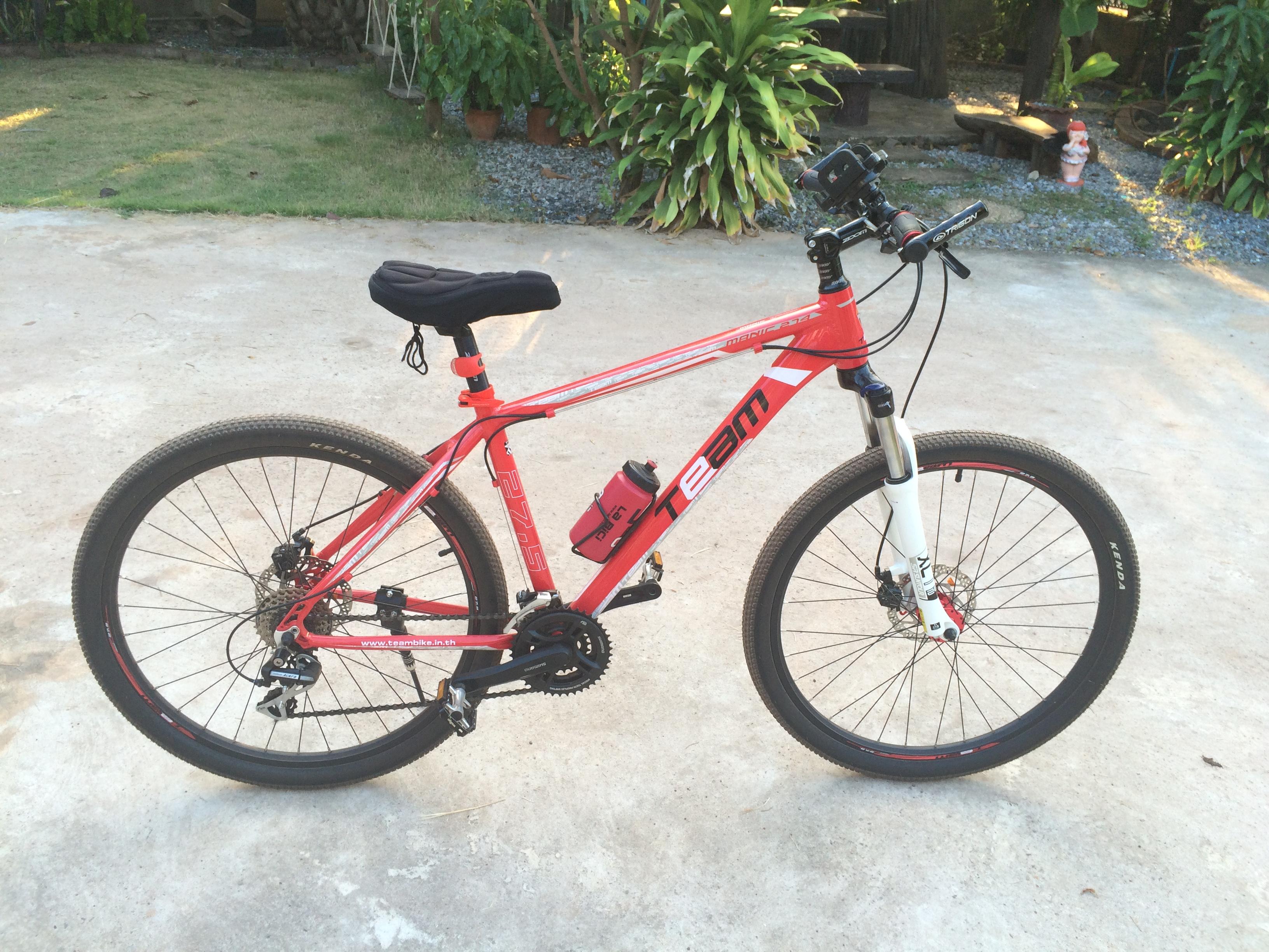 The red Team bike