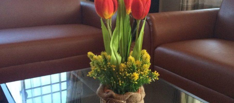Fake tulips