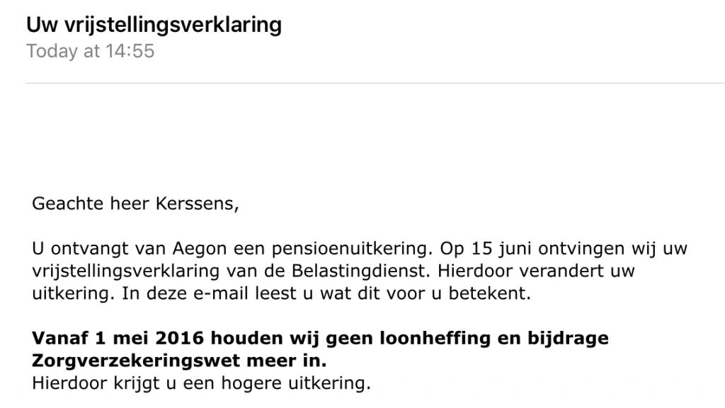 No more NL taxes