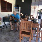 Christiaan on guitar