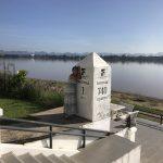 Laos 1 km - Bangkok 740 km